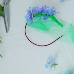 spring flowers headband tutorial step by step