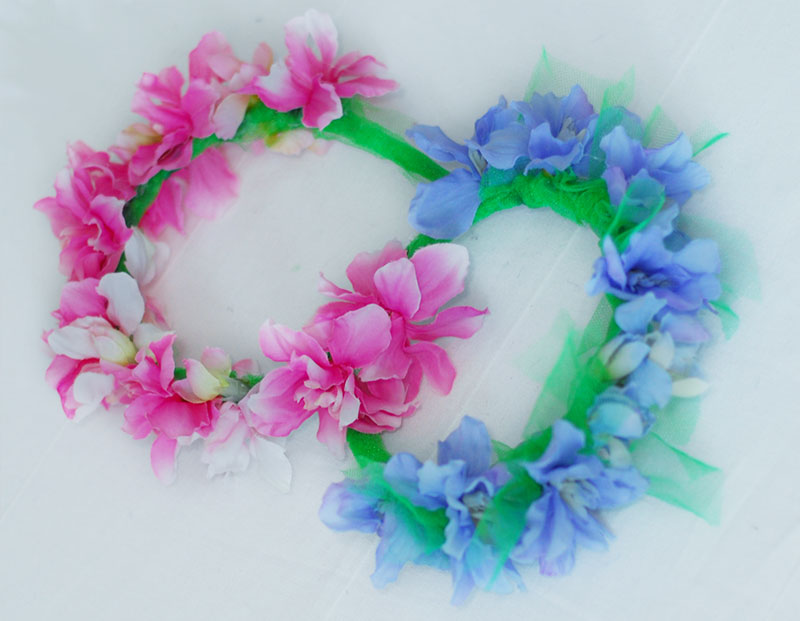 spring flowers headbands DIY