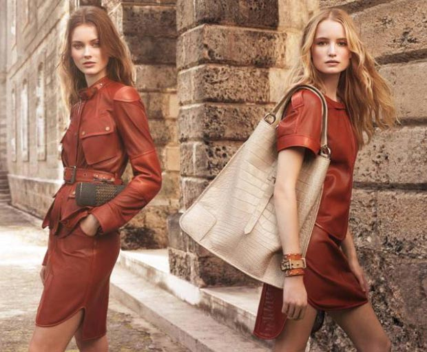Spring leather Belstaff Spring 2013 campaign
