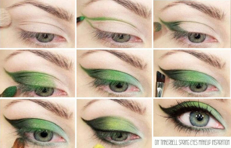 spring makeup inspiration green eyes