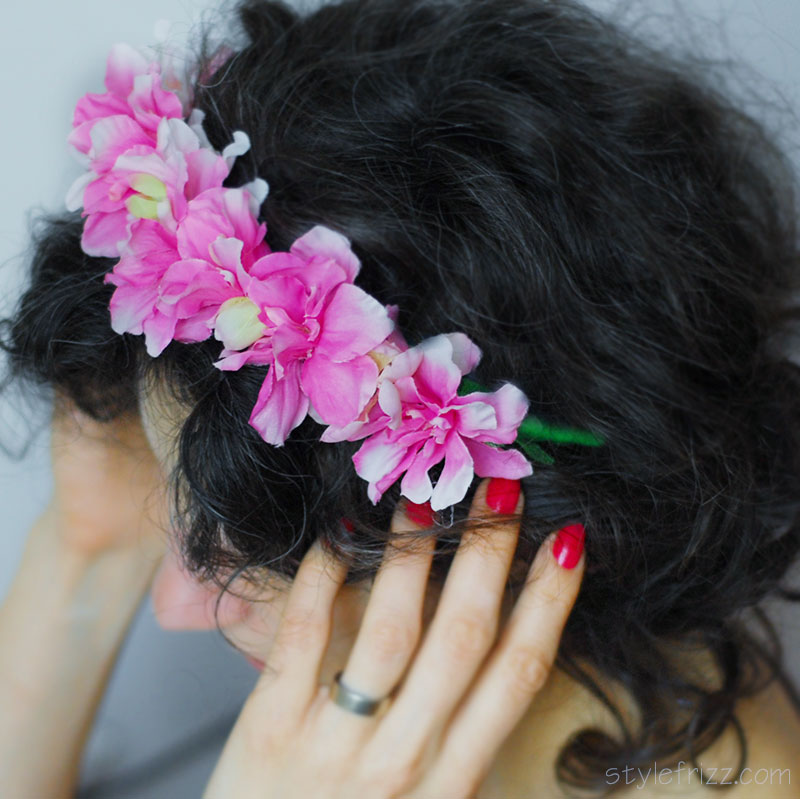 spring pink headband tutorial