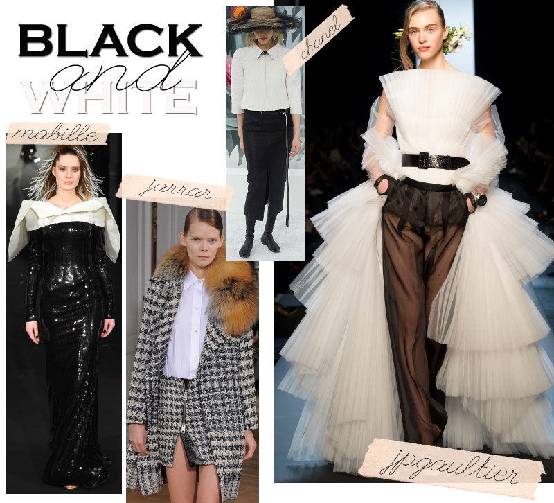 Spring Summer 2015 trends black white