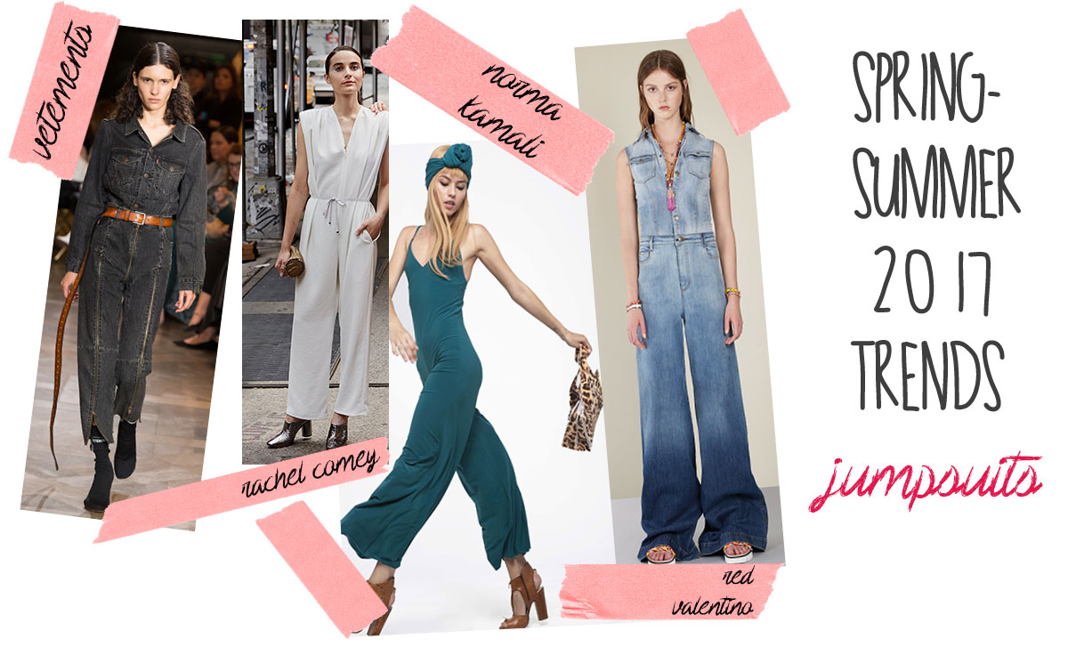 spring summer 2017 trends the jumpsuit