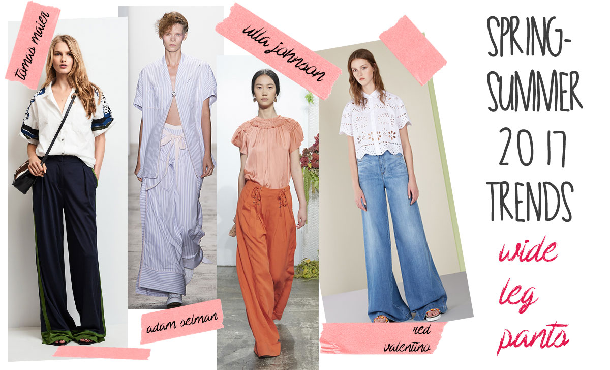 spring summer 2017 trends the wide leg pants