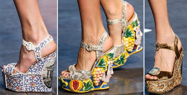 Spring Wedges Greek motifs Dolce Gabbana SS14