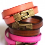 stackable colorful leather bracelets