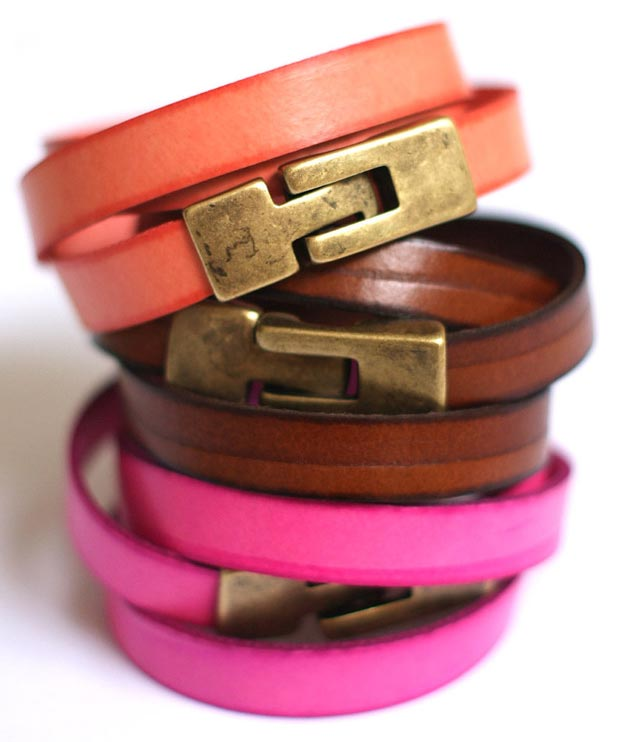 Must Wear This Summer: Stackable Colorful Leather Bracelets