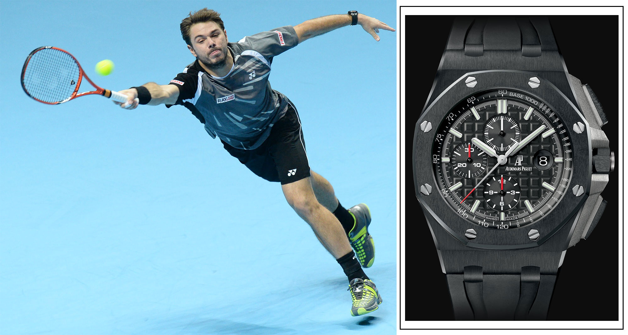 Stan Wawrinka Audemars Piguet watch black Royal Offshore