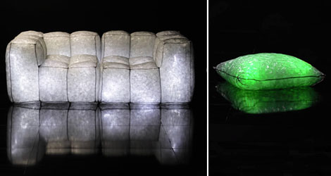 Stella McCartney Adidas Glow in the Dark sofa pillow