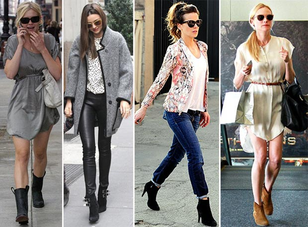 stars with ankle boots...