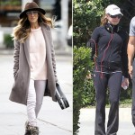 stars with hiking shoes Sarah Jessica Parker Fergie