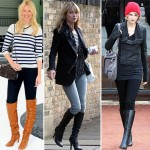 stars with tall boots Claudia Schiffer Kate Moss Taylor Swift Miranda Kerr