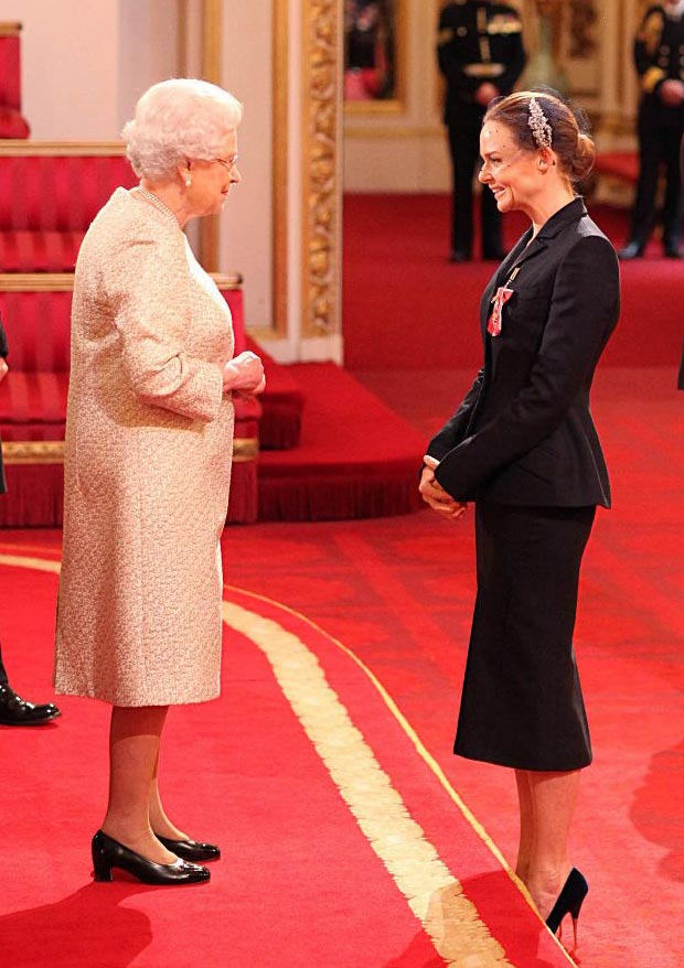 Fashion Moment In Time: Stella McCartney Receives The OBE From The Queen