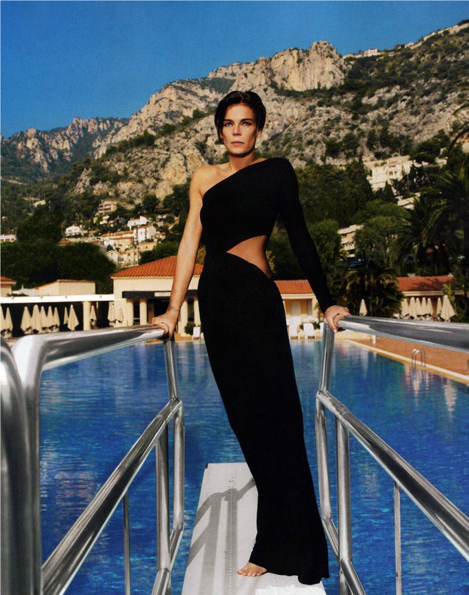 Stephanie de Monaco Vogue Paris December 2008 January 2009 1