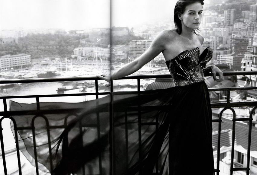 Stephanie de Monaco Vogue Paris December 2008 January 2009 3