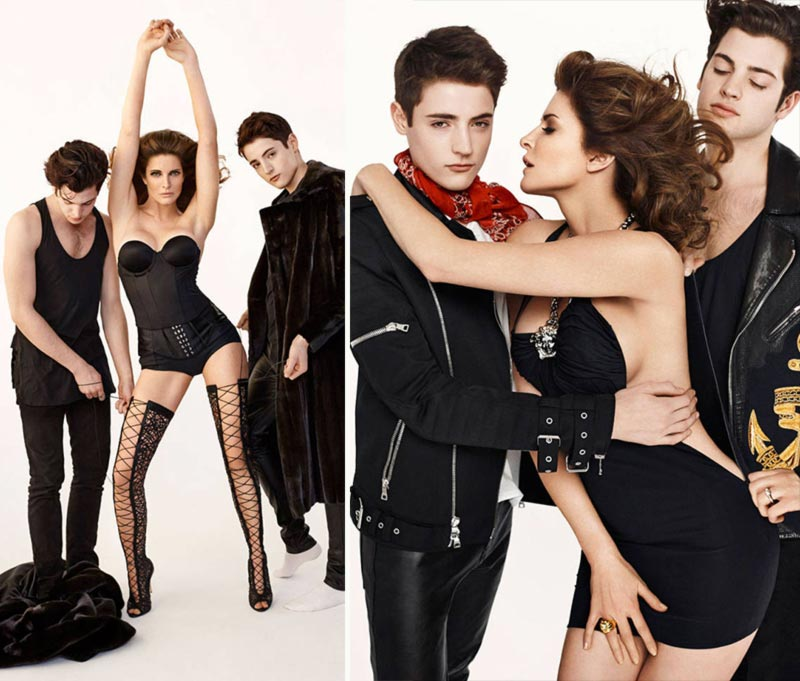 Stephanie Seymour and sons Harper s Bazaar pictorial