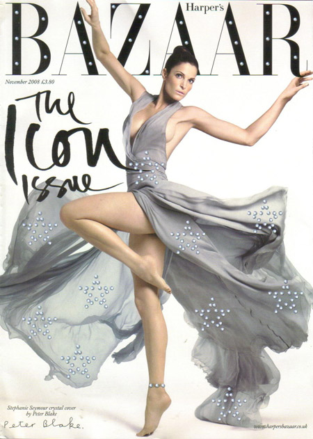 Stephanie Seymour UK Harper s Bazaar November 2008 Peter Blake cover