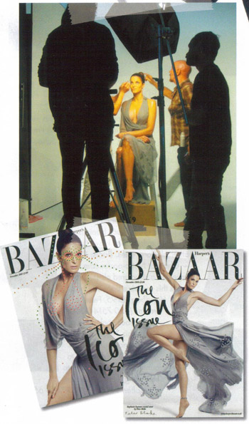 Stephanie Seymour UK Harpers Bazaar November 2008 two covers issue