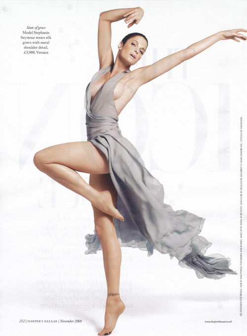 Stephanie Seymour UK Harper s Bazaar November 2008 Versace dress