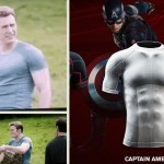 Steve Rogers Captain America Chris Evans tshirt Under Armour Avengers Age of Ultron
