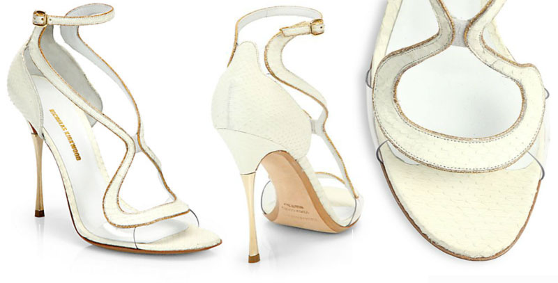 strappy exotic sandals python Nicholas Kirkwood