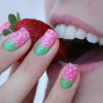 strawberry manicure