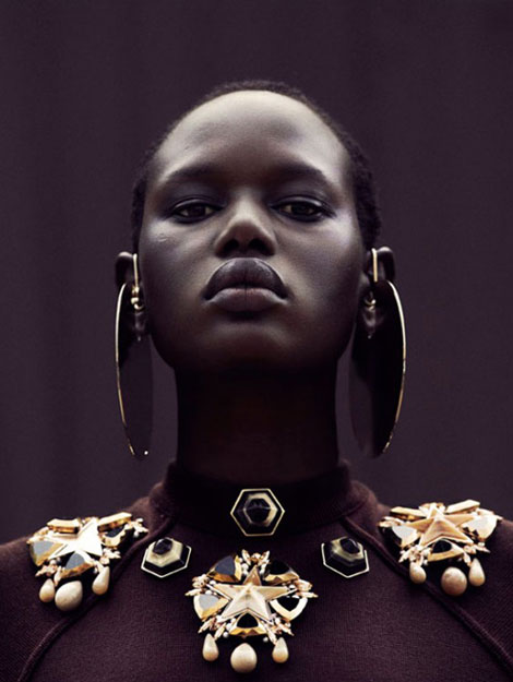 striking Ajak Deng Obsession Magazine pictorial