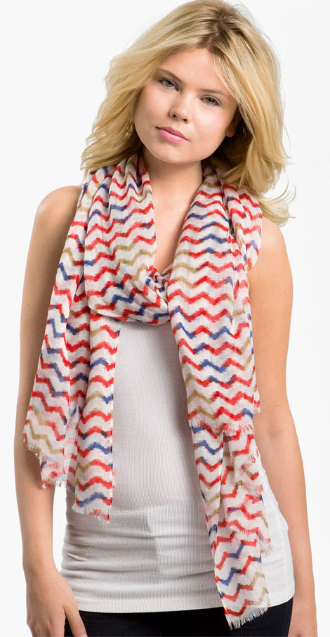 striped summer scarf Lulla collection
