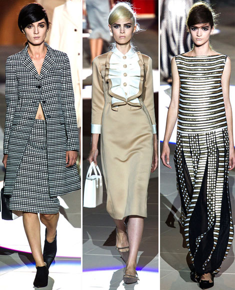 stripes for Marc Jacobs Spring Summer 2013 collection