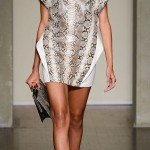 structured snake skin dress Ferre Summer 2013