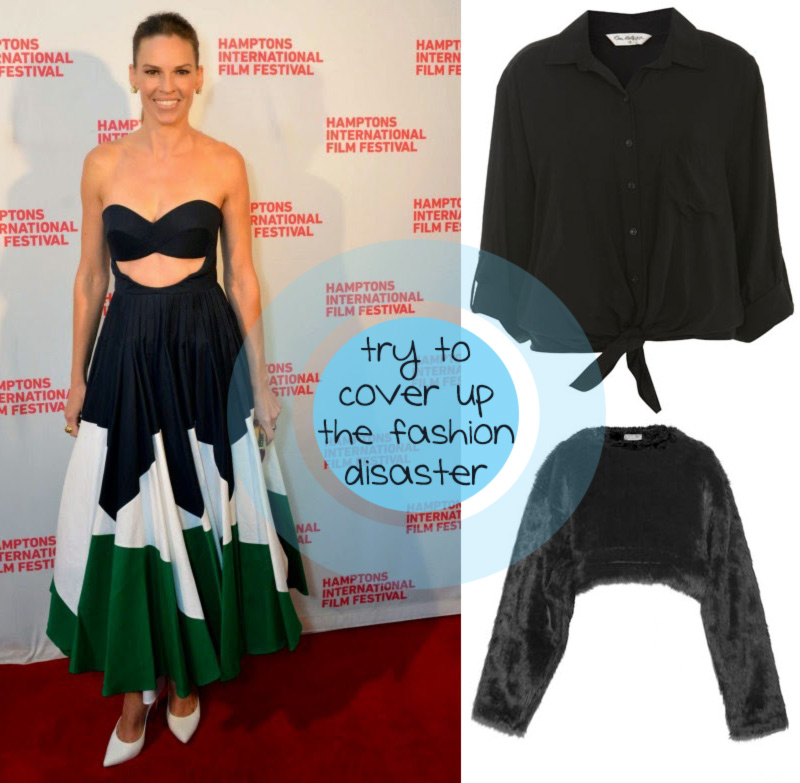 styling suggestions for Hilary Swank messy fashion appearance