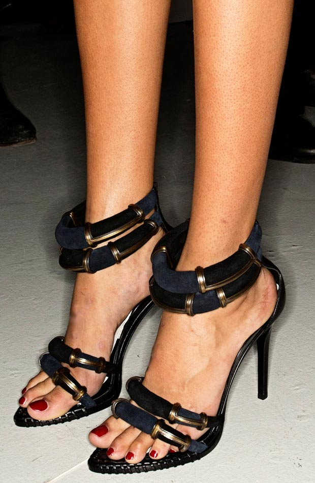 Navy Inspired Stella Luna Sandals In Anthony Vaccarello SS14