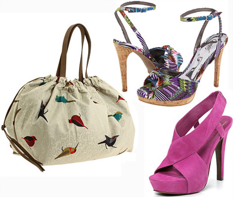 Summer birds bag colored sandals