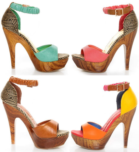 Summer colorful sandals