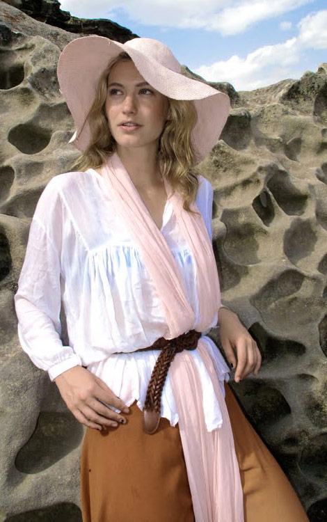 Summer cove rup beige light pink hat