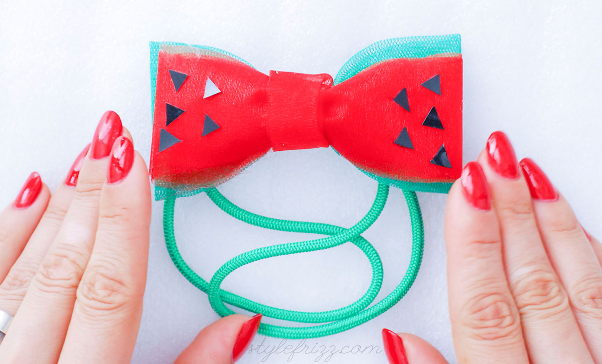 summer headbow watermelon