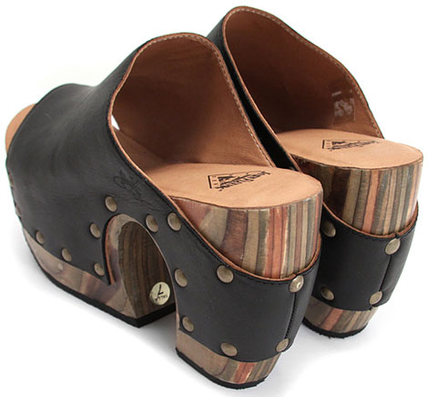 Summer perfect black leather clogs John Fluevog