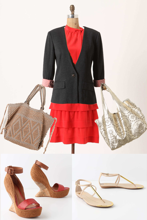 Summer Red Dress Smart Outfits