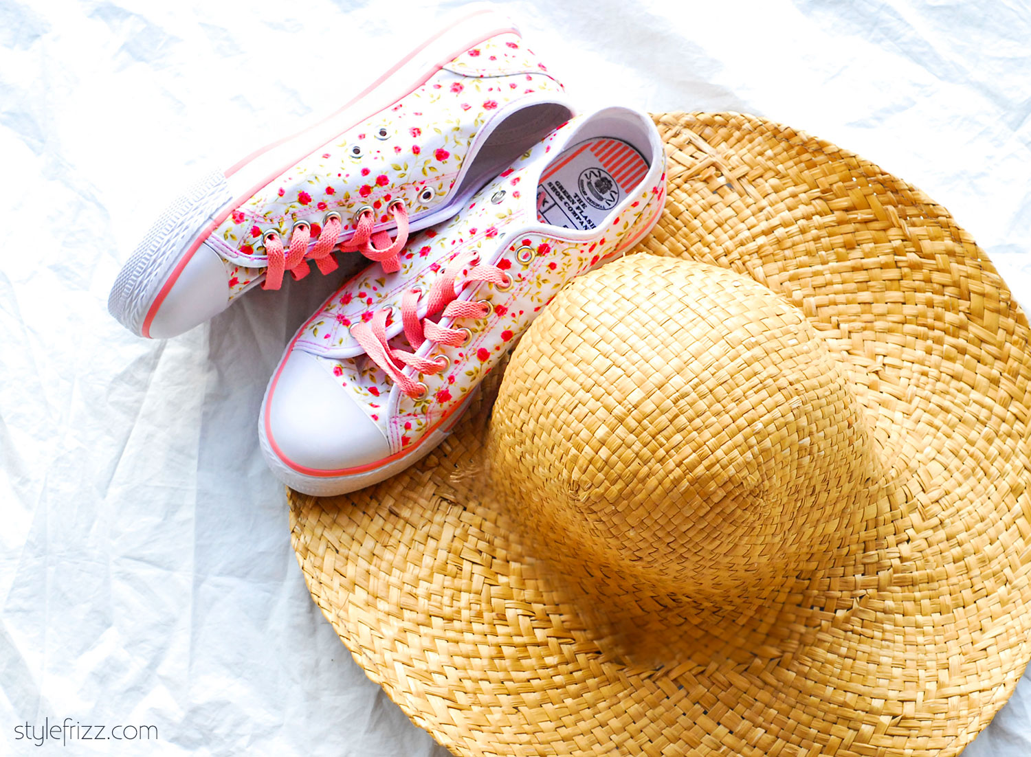 summer sneakers summer hat