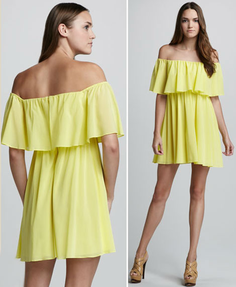 summer yellow dress Alice and Olivia