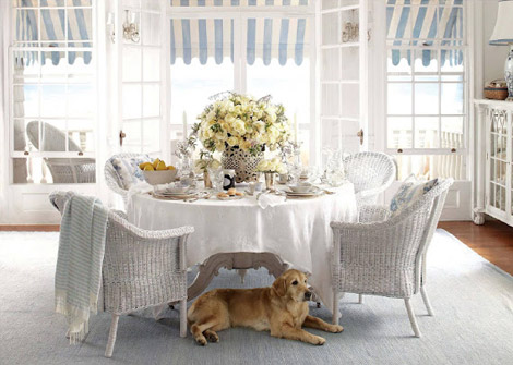 sun porch Ralph Lauren home