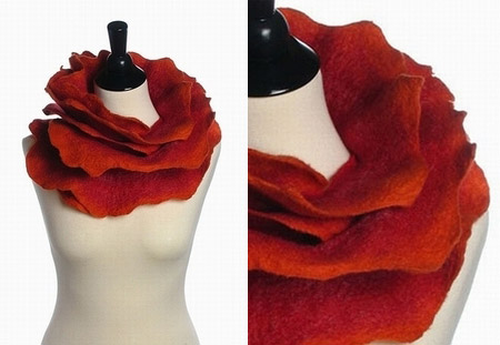 Sunset Rose Scarf Red