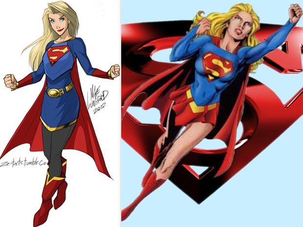 Super Girl classic costume vs modern costume