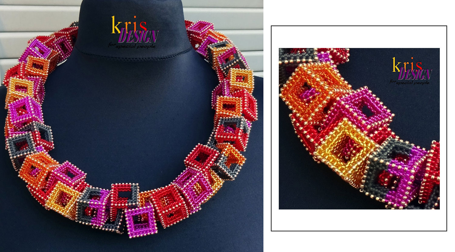 superbe beaded necklace