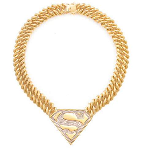 Supergirl Necklace DC Comics Noir Jewelry