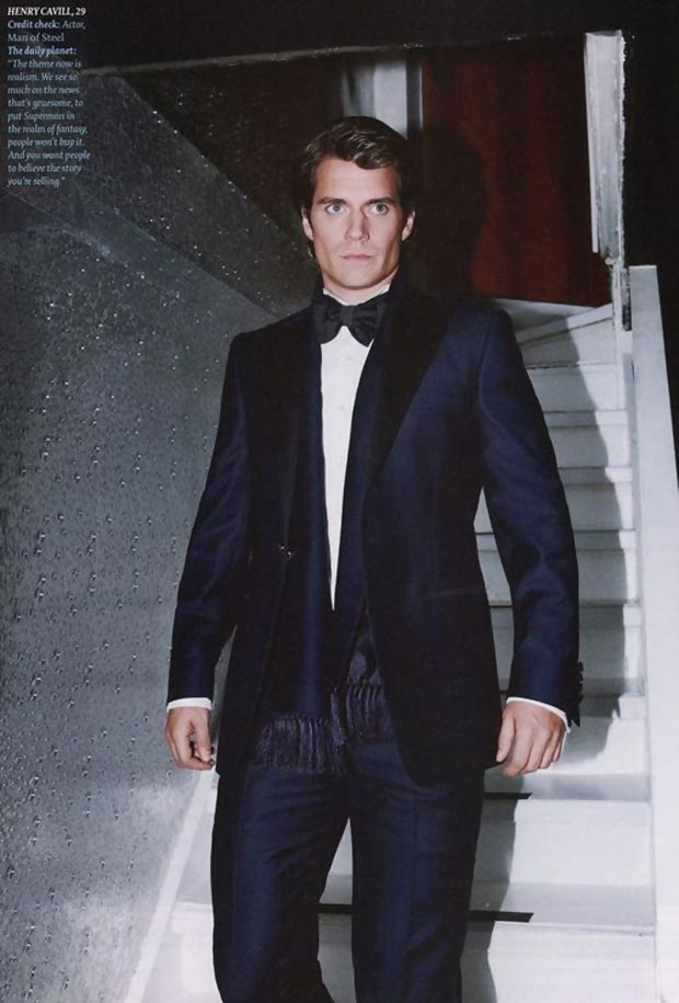 Superman suit Henry Cavill men magazine