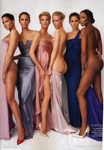 Supermodels A League Of Their Own Vanity Fair September 2008
