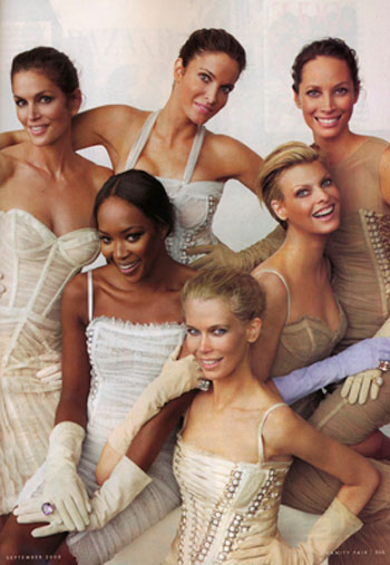 Supermodels Vanity Fair September 2008