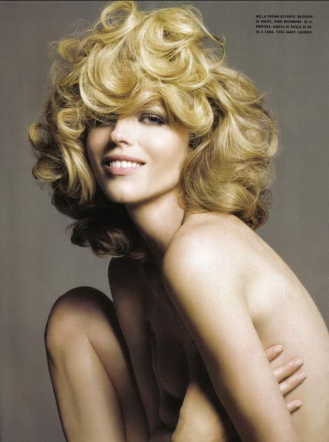 Supermodels Vogue Italy July 2009 Eva Herzigova