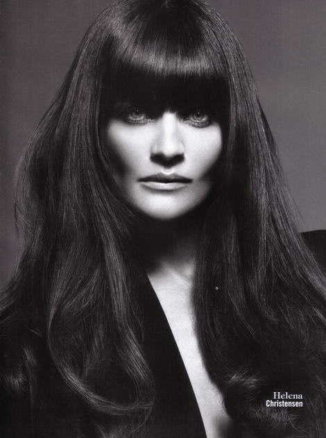 Supermodels Vogue Italy July 2009 Helena Christensen